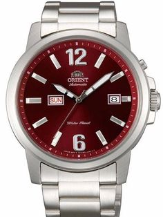 Orient Starfish Day and Date Automatic Watch with Black Dial Casual Watches, Watches For Men, Orient Watch, Window Casing, Affordable Watches, Brushed Stainless Steel, Automatic Watch, Stainless Steel Bracelet, Starfish