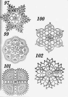 CROCHET - SNOWFLAKE / FLOCON DE NEIGE / SNEEUWVLOK - Crochet: motifs