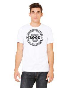 U Rock Unisex T-Shirt Front Logo 3001c