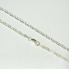 Cadena de plata de primera ley de 60 cm de largo