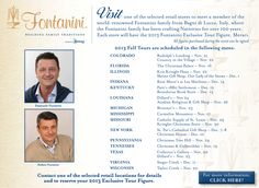 U.S. Tours are nearing! Will you be attending? @Fontanini by Roman, Inc.