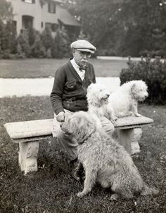John Philip Sousa with dogs