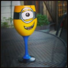 "babysweat650: ""Favorite birthday gift...Stuart!!! #minionobsession #stillakid #wine"""