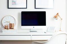 Ich zeige euch, wie ein Arbeitsplatz für Blogger (oder auch im ganz Allgemeinen) aussehen kann - vom Tisch, über Stühle bis hin zur Deko.