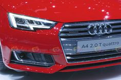 2016 Audi A4 2.0 T quattro - Headlights and frontal view - Want to see more? Follow the link on the photo for Audi at IAA Frankfurt 2015!