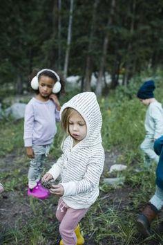Henley hoodie in 'dash dot' #childhoodsclothing