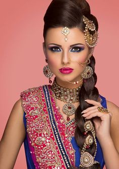 for people IND Asian Blue pink bridal