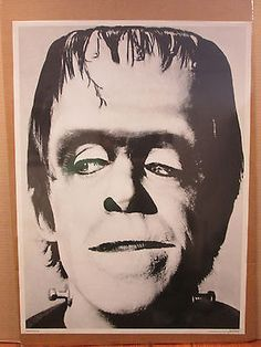 Vintage Herman Munster original horror tv show character poster  9942