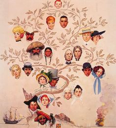 NR: A Family Tree, 1959. Impressive creativity. I think he would have had a few pinterest boards.