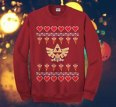 The Legend Of Zelda Art Love Christmas Design Sweater by SweatSwit