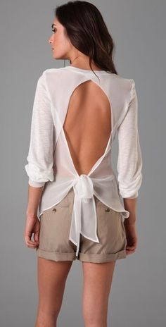love open back shirts. sexy without being trashy.