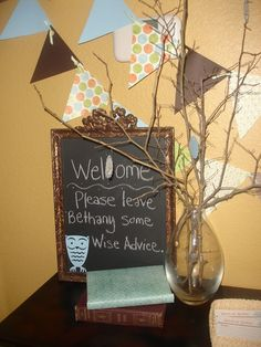Owl Baby Shower - Giggles Galore - Sign in / guest book idea :) - love this!