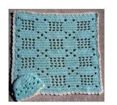 Little Baby Crochet Filet Set ~ free pattern by MSW77