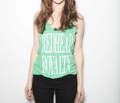 Redhead Royalty Tank Top - Envy Green — How to be a Redhead Natural Redhead, Pantone Color, Playing Dress Up, Redheads, Envy, Royalty, Tank Tops, Cotton, Clothes