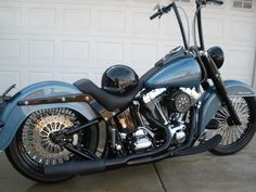 Image from http://www.hdforums.com/forum/attachments/softail-models/171080d1299590512-night-train-gangster-apes-ride-wrights-shotgun-shock-pc310123.jpg. #harleydavidsonfatboyroadking #harleydavidsonsoftailwomen #harleydavidsonfatboymodels