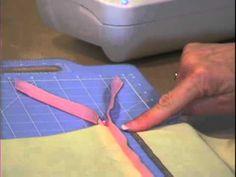 sewing tidy corners - YouTube