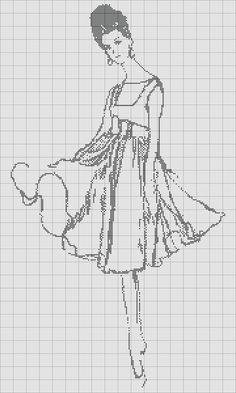 Sew Simple Dress: Free Cross Stitch Chart