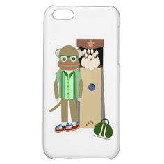 Sock Monkey Bowler Cover For iPhone 5C. Strike on this one's no turkey! #sockmonkey #sock  #bowling #iphone #cases #cute