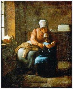 Вязание в живописи... 16картин