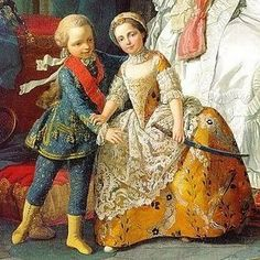1757 Two Children in elaborate dress