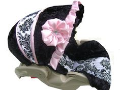 Custom Boutique Infant Car Seat Cover by OhBabz on Etsy, $110.00
