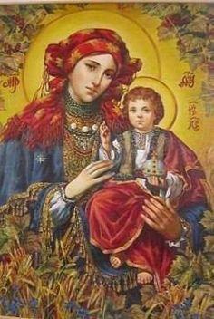 ікона гуцулскої Матері Божої. з гуцулскої церкви. кому не трудно повісьте в себе. най її буде більше. най охороняє Україну маму і вояків синів. Спаси і Сохрани.