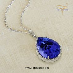 Tanzanite pendant in 14kt white gold 136 carat pear shape tanzanite pendant in 14kt white gold 136 carat pear shape tanzanite pendant pinterest tanzanite pendant pendants and bling aloadofball Gallery
