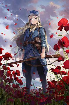 Fan art de battlefield 1 version (no tengo derechos sobre las imagenes) Anime Art Girl, Anime Girls, Chicas Anime, Anime Style, Battlefield 1, Anime Military, Military Girl, Character Art, Character Design