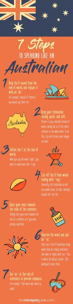 How to Speak Australian: 7 Steps to Mastering the Australian Accent Best Language Learning Apps, Learning Languages Tips, Learning Sites, Learn A New Language, Learning Resources, Learn Languages, Australian Accent, Australian English, Australian Icons
