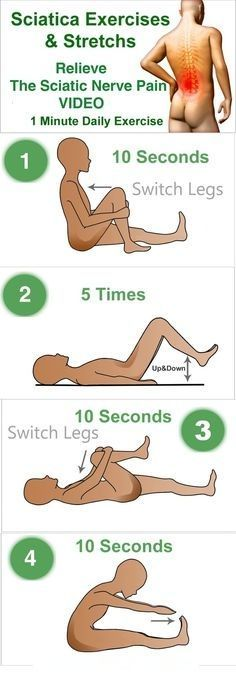 6 OF THE BEST EXERCISES FOR SCIATICA AND LOWER BACK PAIN !!