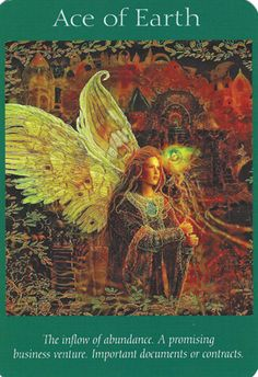Disks-Earth-AceofEarth-AngelTarot =Divinatory meaning Upright – Financial change for the better, material comfort, physical well being, wealth, possessions and an appreciation of the good things in life. The essence and luxury of the Element of Earth.