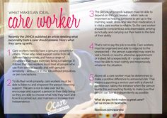 What makes an ideal care worker?