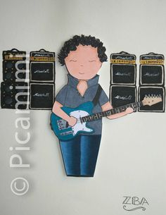 While My Guitar Gently weeps... Custom made Visit www.picamimi.com for more How To Make Drawing, Copic, Custom Made, Guitar, Artwork, Illustrations, Drawings, Art Work, Sketches