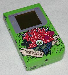"Custom Art: Custom Game Boy ""Metroid - Mother Brain"""