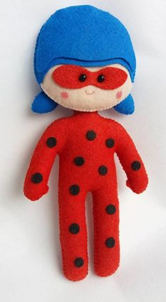 Ladybug   Encantarte GALTIS   Elo7 Ladybug Party, Halloween Disfraces, Smurfs, Character, Pillow Pets, Fabric Dolls, Early Education, Fiestas, Hipster Stuff