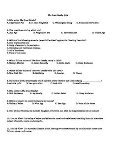 Essay prompts and multiple choice questions