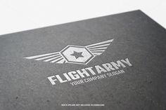 Flight Army Logo Template by @Graphicsauthor