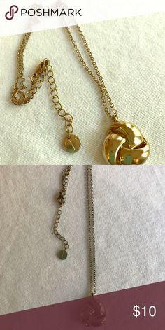 2eb32cb6504 Talbots Gold tone Knot Necklace Like new Talbots gold tone knot necklace 17  inches with 3