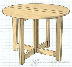 Drop Leaf Table Plans - Furniture Plans and Projects | WoodArchivist.com
