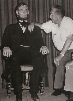 Walt & Mr. Lincoln. This is probably one of my favorite pictures. Great Moments With Mr. Lincoln brings tears to my eyes every time I see it. What an amazing animatronic; it's like seeing the real Gettysburg Address. Seeing Walt with his creation is heartwarming.