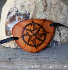 Navigator First Mate's Eye patch- Hand painted and cut from genuine leather - One size fits most OOAK