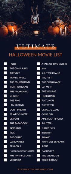 The Perfect Halloween Night In + Ultimate Halloween Movie List — Elephant On The Road