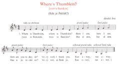 Song Where´s a Thumbkin?