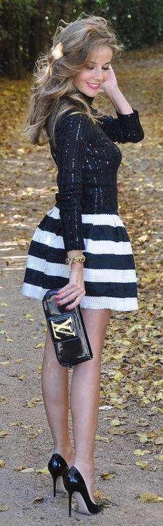 Sexy little mini dress and stilettos