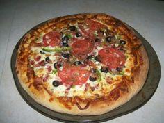 Pâte à pizza à grosse croûte Calzone, Vegetable Pizza, Quiche, Muffin, Favorite Recipes, Vegetables, Breakfast, Pizza Pizza, Food