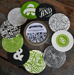 Love these Ampersand Coasters (Two Paper Dolls) $15