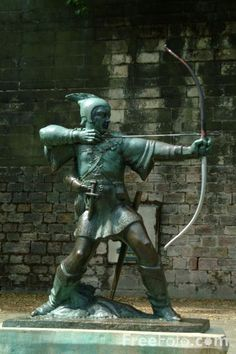 -Robin-Hood-Statue--Nottingham_ I grew up just outside Nottingham so Robin Hood was a childhood hero to me.