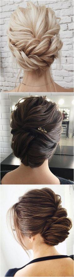 elegant updo wedding hairstyles #weddinghairstyles