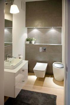 homes interior ideas Wc Bathroom, Bathroom Toilets, Bathroom Layout, Bathroom Interior Design, Bathroom Furniture, Modern Bathroom, Small Bathroom, Design Bedroom, Guest Toilet