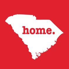 South Carolina Home T-Shirt --- supports Multiple Sclerosis research Carolina Pride, South Carolina Homes, Carolina Girls, Palmetto State, Carolina Gamecocks, Home T Shirts, Hilton Head Island, Down South, Southern Charm